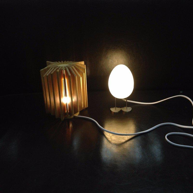 实用的木质灯罩模型