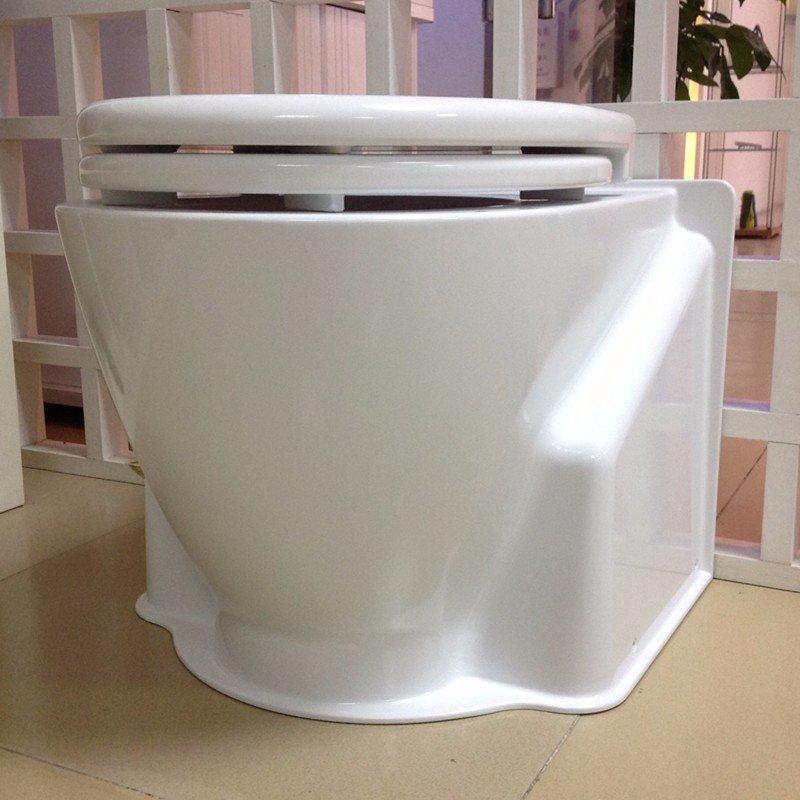 光亮白色塑料马桶模型