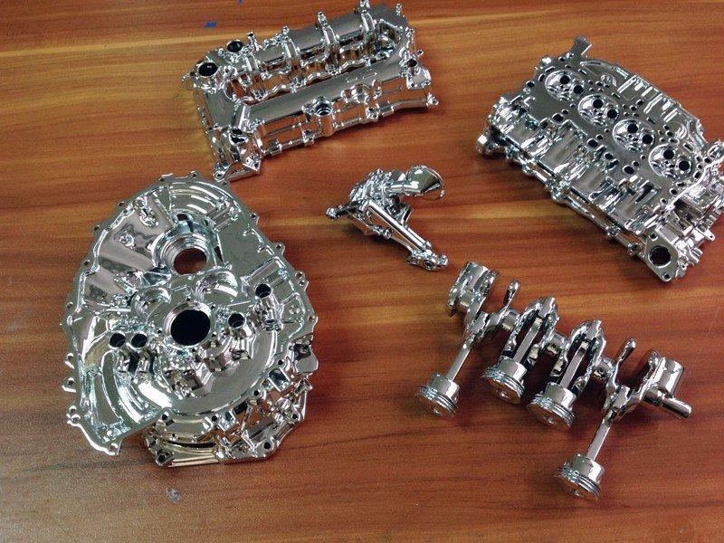 3打印汽车发动机零件模型