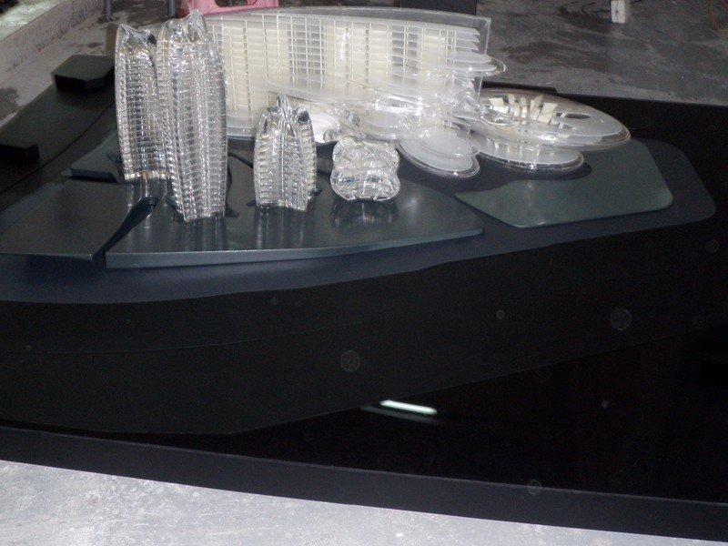 水晶透明楼盘模型城市广场模型手板