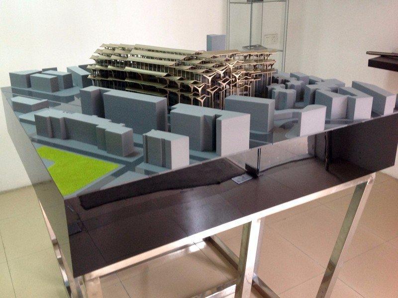 成都歌剧院投标建筑手板模型
