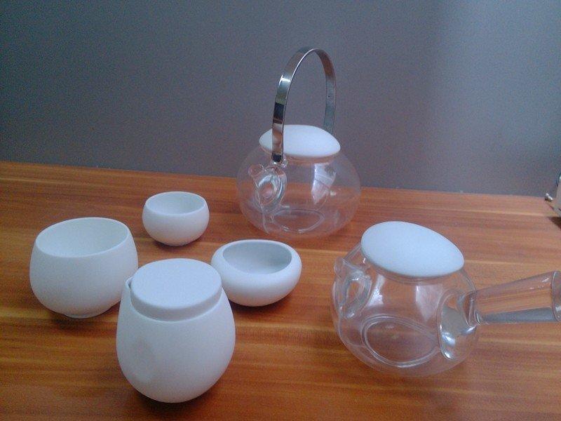 实用的树脂茶具透明茶杯