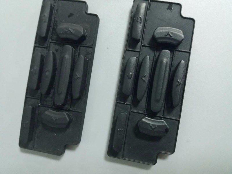 复模工艺黑色橡胶手板