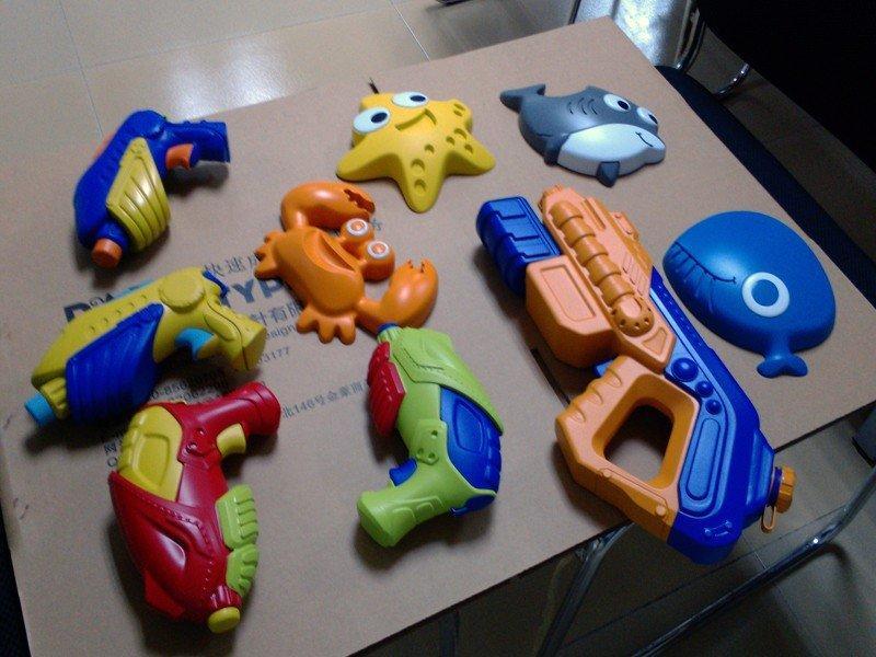 彩色塑料儿童玩具喷水枪