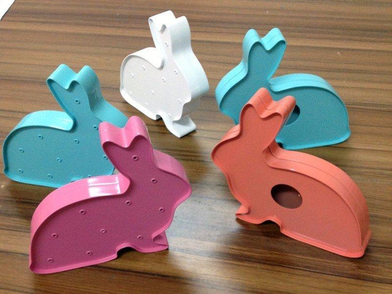 彩色定制动物造型摆件兔子模型