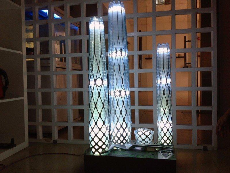 时尚唯美灯光效果著名建筑楼盘定制手板