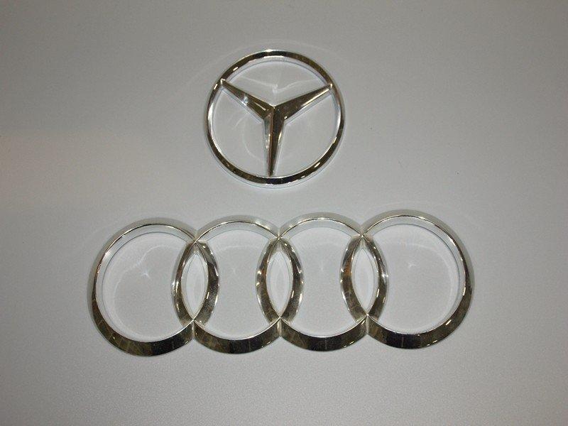 树脂打印表面电镀奥迪奔驰汽车标志